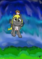 Filly Derpy And Mr Muffin by Zakkurro