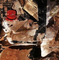 Decollage on wall by imageater
