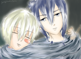 Nezumi and Shion (No.6) by GirlofSmokeandFire