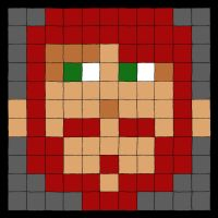 My Pixel Self Portrait by captain-redbeard