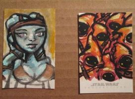 star wars reflections sketch cards by kettleart