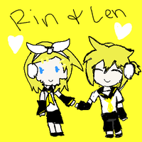+Request+ Chibi Rin and Len by Riiload