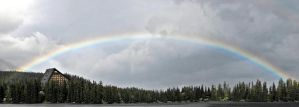 Rainbow over the tarn by ibabela