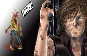 The Walking Dead - Daryl Dixon by kentaropjj