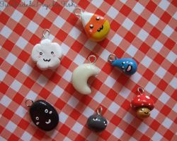 Painting Cold Porcelain Charms by FunkadelicPsychoFish