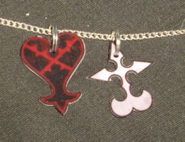Heartless + Nobodies pendants by ykansaki