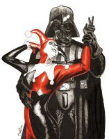 Vader and Harley by artistjerrybennett
