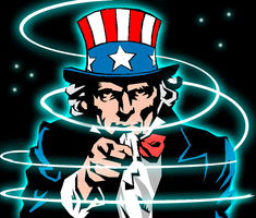 Uncle Sam Glowing by Hypherius241