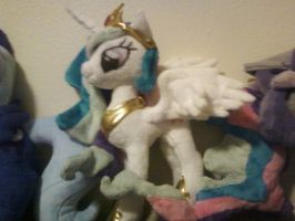 My Celestia plush by xCookie-Cutterx