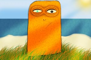 angry toast monster by handschufachxD
