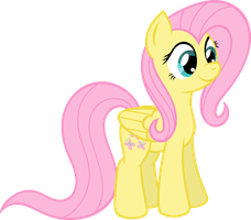 Cute Little Fluttershy by wildtiel