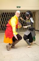 Toph, Aang - Legend of Korra by TophWei