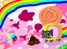 more nyancat by mykittystyle