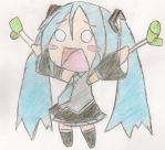 Coloured Chibi Hatsune by plushmush