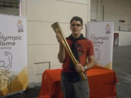 Me Holding the Olympic Torch by Buster1991
