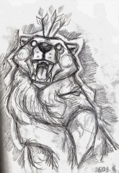 Speed sketch - Bear by BlackBigBear