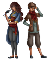 Astrid and Con by Angymoo