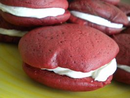 Red Velvet Whoopie Pies I by funnymonkey820