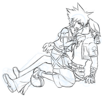 DailyDoodle: KH2 Leon x Sora by justira
