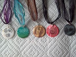 all five necklaces Avatar TLA by Fallonkyra
