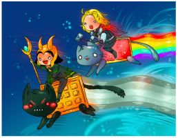 loki and thor by michellescribbles