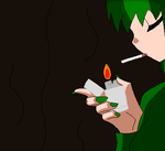 Pinara smoking by ManyFormsLori