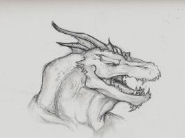 Dragon headshot by Foolter