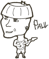 Caricature: Paul by 0celluloid-dreamer0