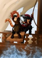 Commission: Pirate Cats! by Frankyding90