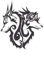 Rage and Despair Tribal Tattoo Design by wolfhappy