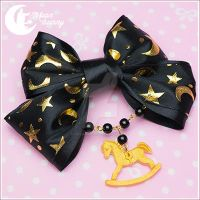 Golden rocking horse Hairclip by CuteMoonbunny