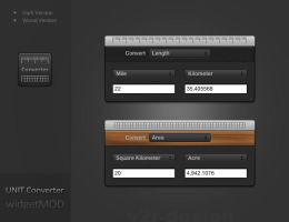 Unit Converter Widget - MOD by artist00
