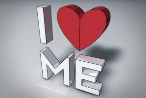 I Love Me Wallpaper by pointblankcreativity