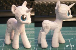 Pony papercraft WIP by darth-biomech