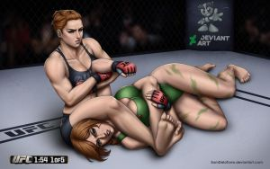 UFC vs Streetfighter: Rousey vs Cammy (fight) by SamDelaTorre
