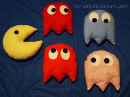 Pacman Pillows by Fay-san