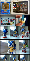 Posable Nendoroid Sonic figure ~ Black eyes mod by SCIFIJACKRABBIT