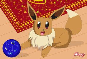 Playful Eevee by Rose-Beuty
