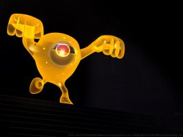 Yellow Devil Descending Staircase by UnexpectedToy