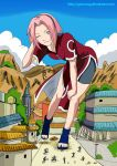 Giantess Ninja Sakura color by giorunog