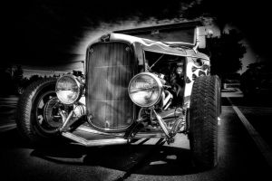 Black White Hotrod by jmotes