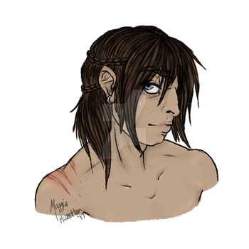 Sketch::Conall Bust by LittleBoBleat