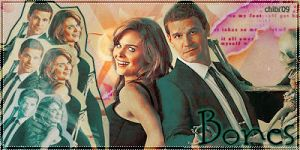 Brennan and Booth by Chibilina