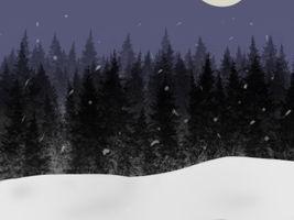 Snow background by Alcemistnv