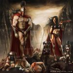 Spartan warriors - 300 tribute by rafater