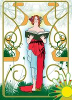 Mucha inspired greetings card. by Pylo