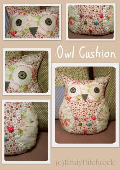 Owl Cushion by EmilyHitchcock