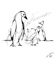 Inkblot Penguins by Eseopia