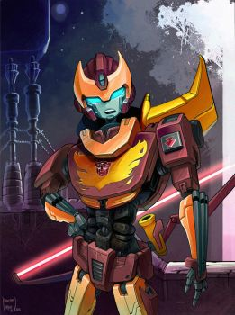 Rodimus in the Night by keen44