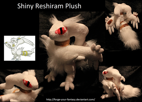 Shiny Reshiram Plush - SOLD by Forge-Your-Fantasy